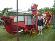 Caleb with farm implement