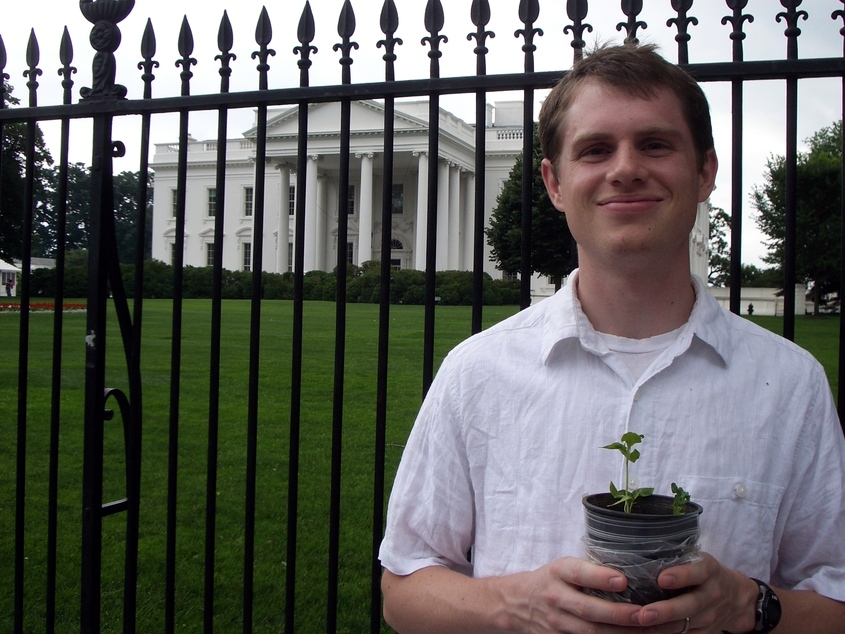 Ben's pepper plant at the White House